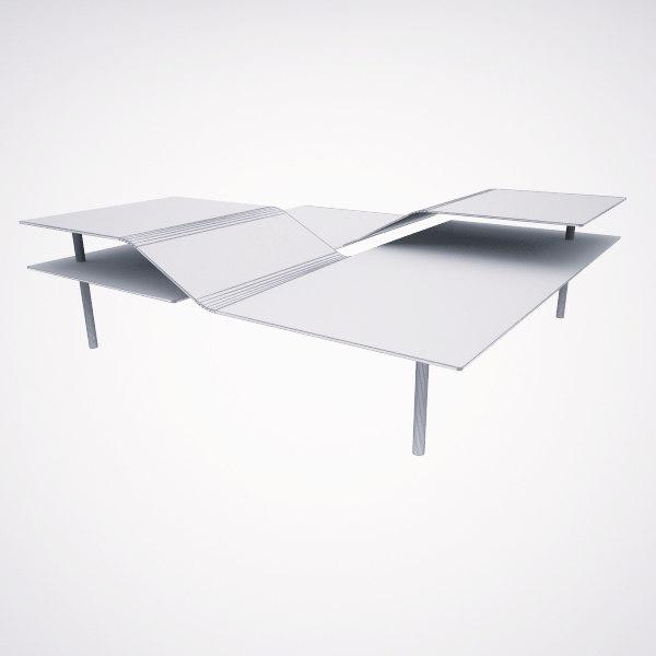 table living room 3d model
