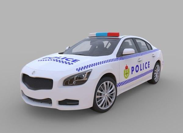 generic police car interior 3d model