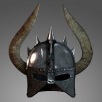 3d medieval helmet barbarian