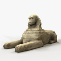 great sphinx 3d model