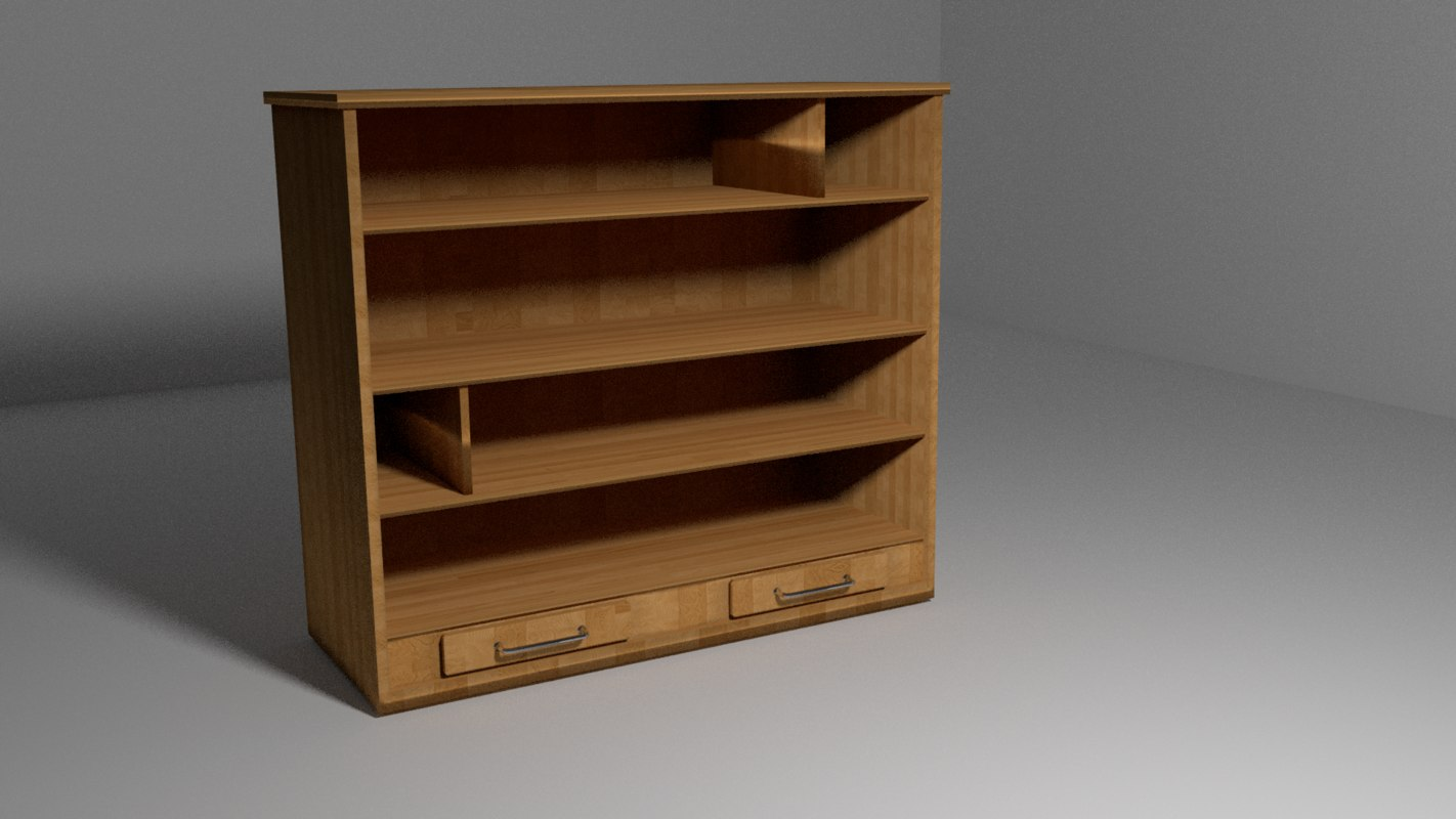 bookcase shelf 3d model