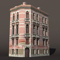3d obj building exterior