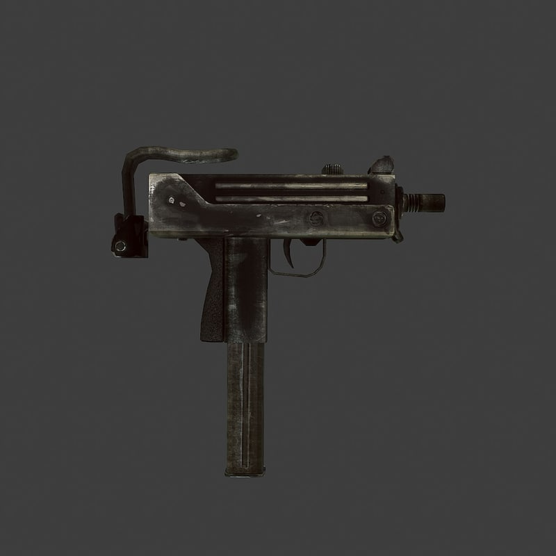 3d ingram mac 10 model