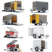 4 cargo trailer 3d 3ds