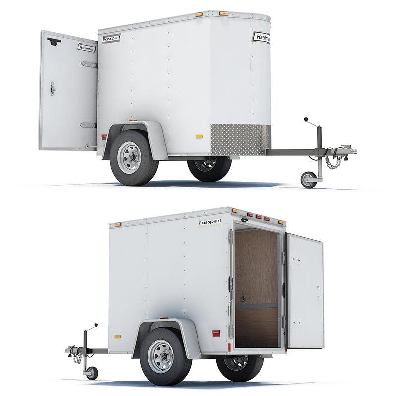 cargo trailer 3d model