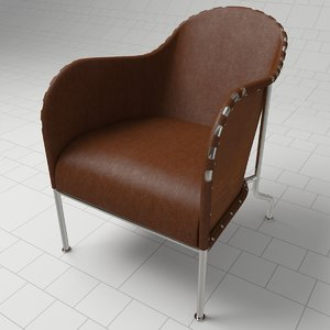 3ds max bruno armchair