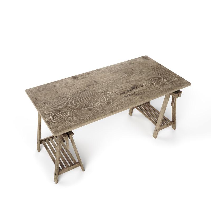scandinavian table 3d max