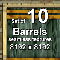 Wood Barrels 10x Seamless Textures