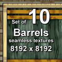 Wood Barrels 10x Seamless Textures