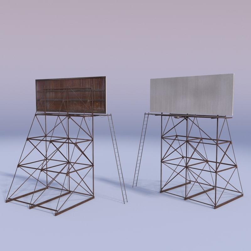 billboard 3d model