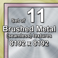 Brushed Metal 11x Textures, some seamless