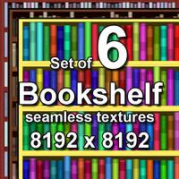 Bookshelf 6x Seamless Textures
