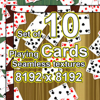 Playing Cards 10x Seamless Textures