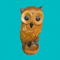 wooden owl 3d model