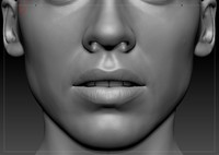 obj realistic woman head