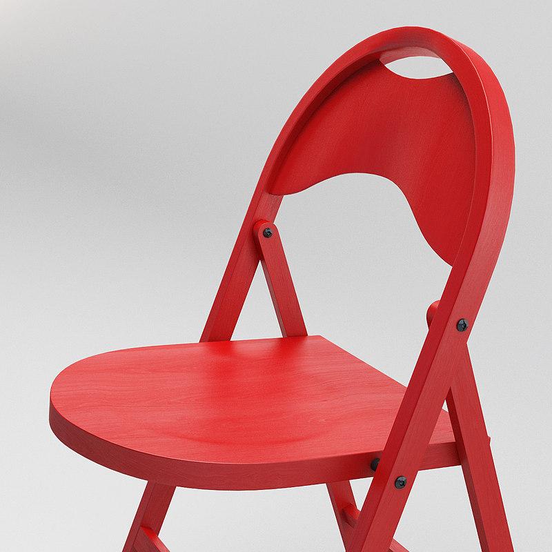 folding chair a751 gebruder 3d model