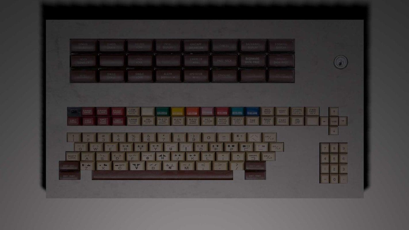 industrial keyboard 3d model