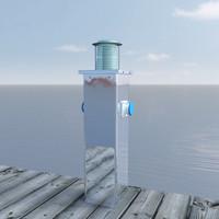 3d pier lamp power station model