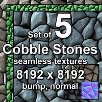 Cobble Stones 5x Seamless Textures