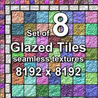 Glazed Tiles 8x Seamless Textures, set #2