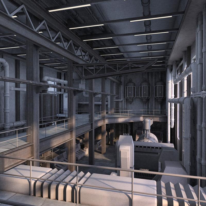 industrial interior 3d x