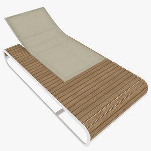 3d 3ds sun lounger