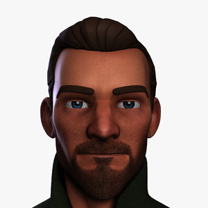 3d heroic cartoon character man