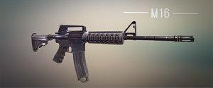 m16 weapon 3d max