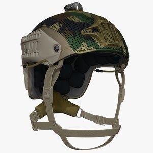 3d model ballistic helmet uved