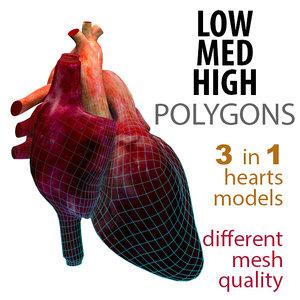 mesh heart human 3ds