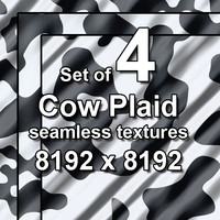 Cow Plaid 4x Seamless Textures