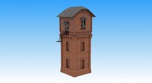 3d russian watertower model