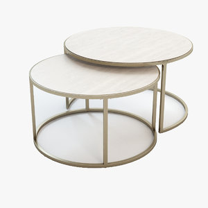 coffee table monterey 3d max