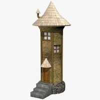 c4d medieval building