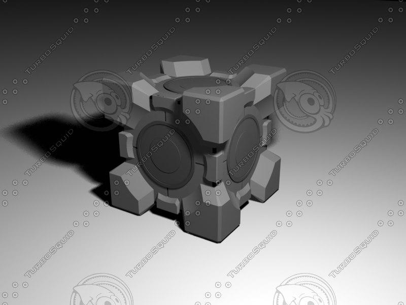 portal 2 companion cube 3d max
