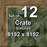 Crate 12x Seamless Textures, set #2