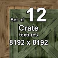 Crate 12x Seamless Textures, set #2