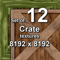 Crate 12x Seamless Textures, set #1