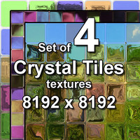 Crystal Glass Tiles 4x Textures, set #1