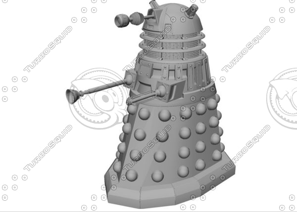 dalek series doctor 3d model