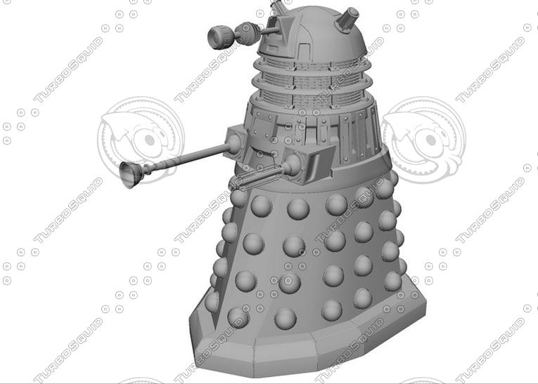 dalek series doctor 3d model