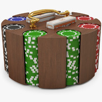 poker chip carousel 3d model