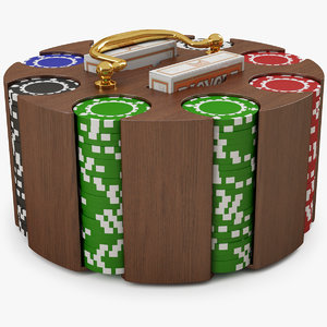 poker chip carousel 3d model