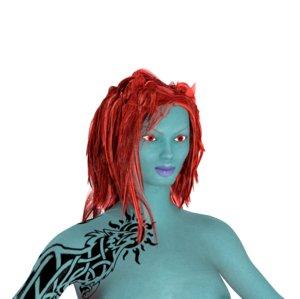 3d model of dark elf