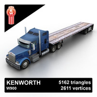 Kenworth W900 Flat Bed Loader