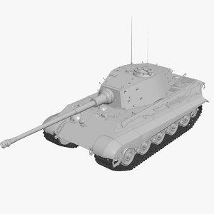 tiger ii ausf b 3d max