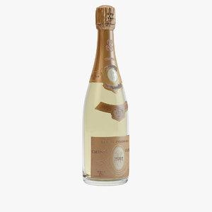 - cristal champagne bottle 3d 3ds