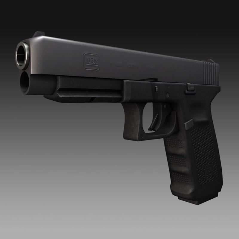 3d glock 41 gen4 45 model