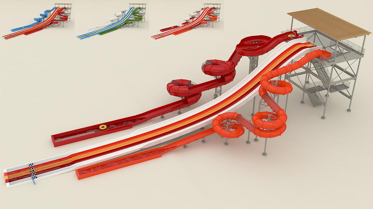 water extrem slide 3d model
