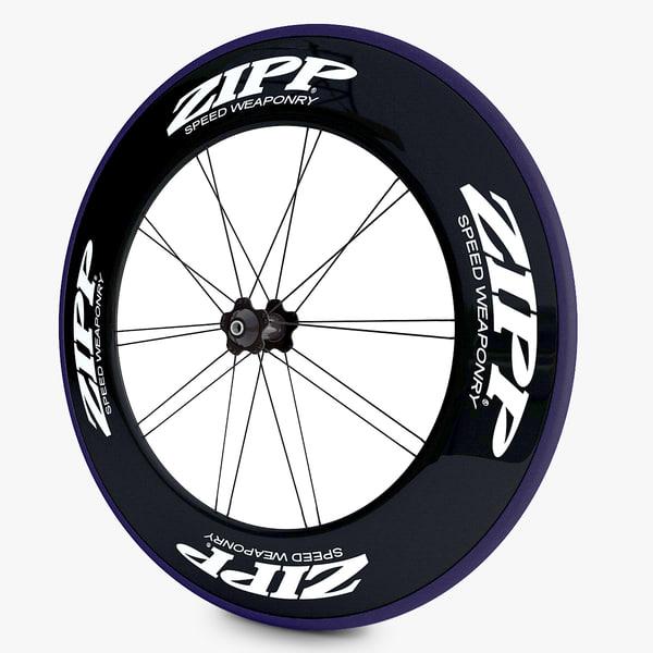 3d racing bicycle wheels model